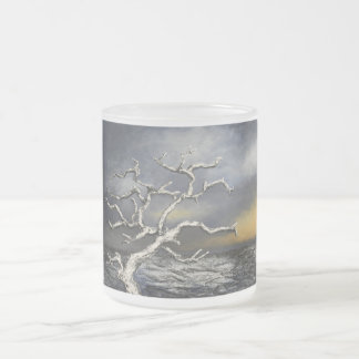 On the Edge of the Storm by Artist Alison Galvan Frosted Glass Mug
