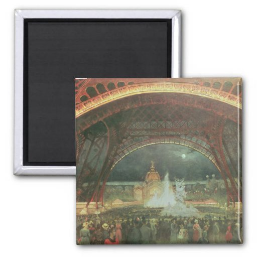 On the esplanade of the Champs de Mars 2 Inch Square Magnet