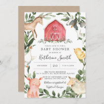 On The Farm Baby Shower Invitation