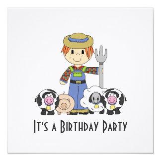 On The Farm Birthday Party Invitation