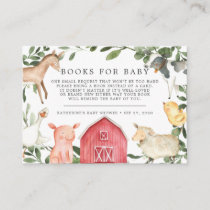 On The Farm Books For Baby Baby Shower Card