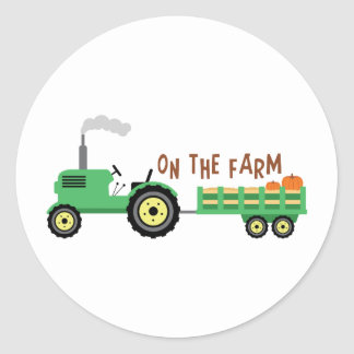 On The Farm Classic Round Sticker