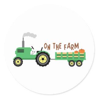 On The Farm Classic Round Sticker