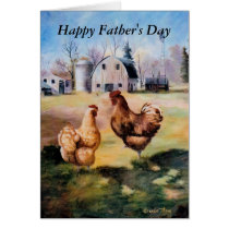 On the Farm Father's Day Card