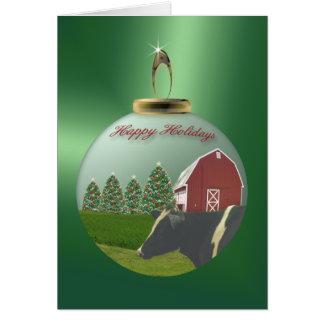 On the Farm Ornament Card