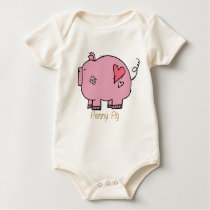 On The Farm: Penny Pig Onsie Baby Bodysuit