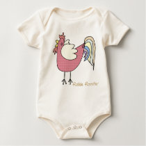 On The Farm: Robbie Rooster Baby Bodysuit