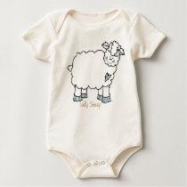 On The Farm: Sally Sheep Onsie Baby Bodysuit