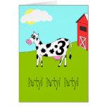 On the Farm - Third Birthday Party Invitation Greeting Card