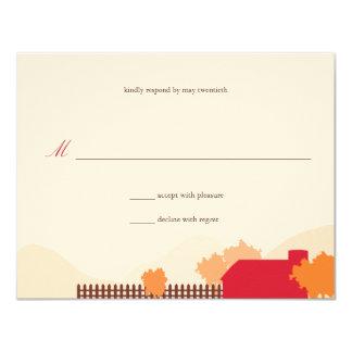 On the Farm Wedding Response 4.25x5.5 Paper Invitation Card