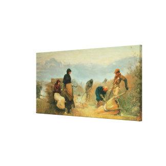On the Fens, 1878 Canvas Print