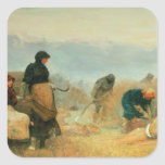 On the Fens, 1878 Square Sticker