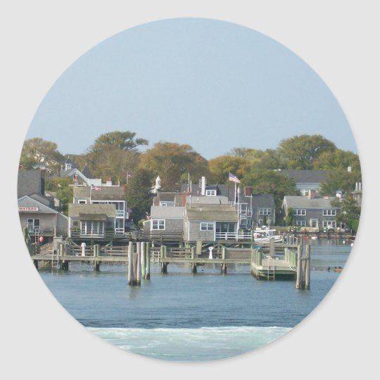 On the Ferry Classic Round Sticker