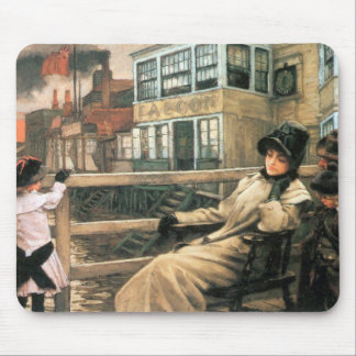 On the ferry waiting by James Tissot Mouse Pad