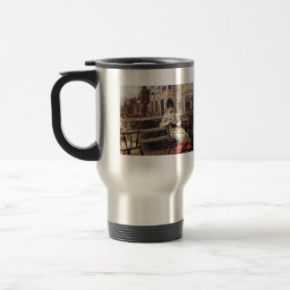 On the ferry waiting by James Tissot Travel Mug