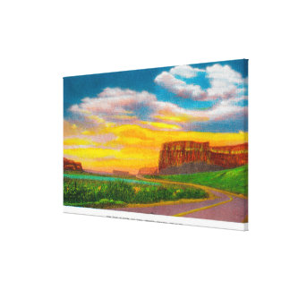 On the floor of the Upper Grand Coulee Dam Canvas Prints