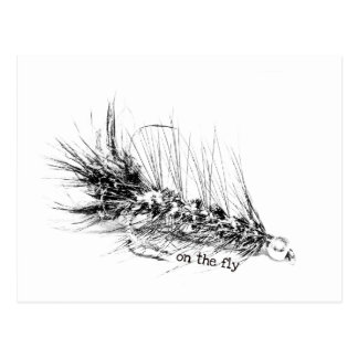 On The Fly - Fisherman's Fly Pattern Bait Postcard