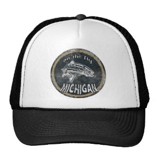 ON THE FLY MICHIGAN TRUCKER HATS