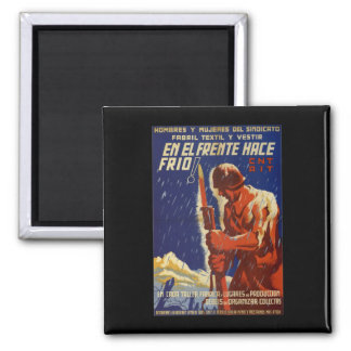 On the front it's cold (1937)_Propaganda Poster Magnet