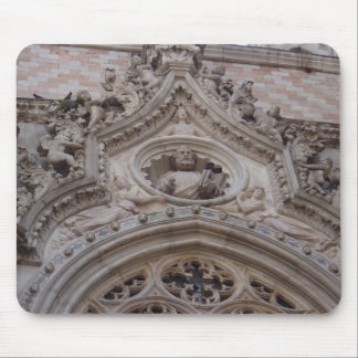 On the front of the Doges Palace, St. Mark's Squar Mouse Mat