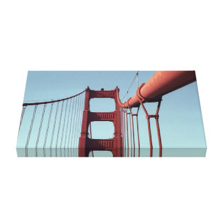 On The Golden Gate Bridge Canvas Print