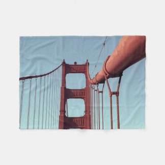 On The Golden Gate Bridge Fleece Blanket