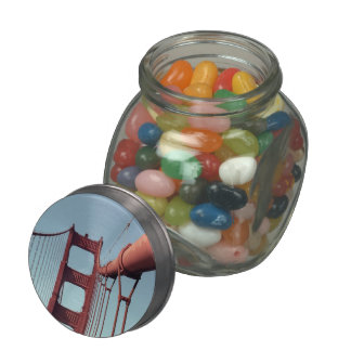 On The Golden Gate Bridge Glass Candy Jars