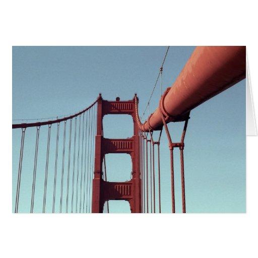On The Golden Gate Bridge Greeting Card