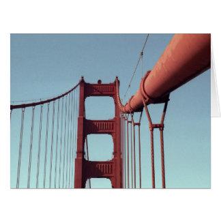 On The Golden Gate Bridge Large Greeting Card