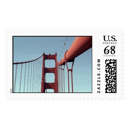 On The Golden Gate Bridge – Large Postage