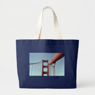 On The Golden Gate Bridge Large Tote Bag