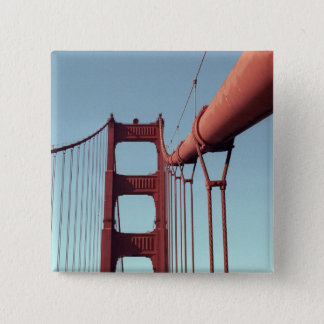 On The Golden Gate Bridge Pinback Button