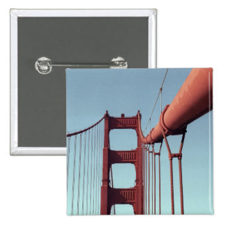 On The Golden Gate Bridge Pinback Button