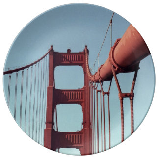 On The Golden Gate Bridge Porcelain Plate