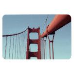 On The Golden Gate Bridge Rectangular Photo Magnet