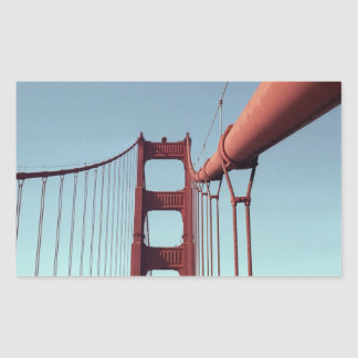 On The Golden Gate Bridge Rectangular Sticker