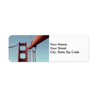 On The Golden Gate Bridge return address label