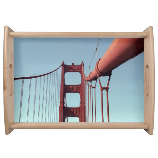 On The Golden Gate Bridge Serving Tray