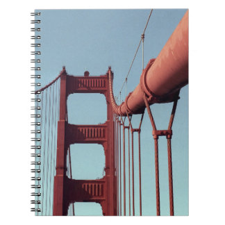On The Golden Gate Bridge Spiral Notebook