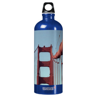 On The Golden Gate Bridge Water Bottle