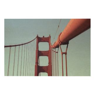 On The Golden Gate Bridge Wood Print