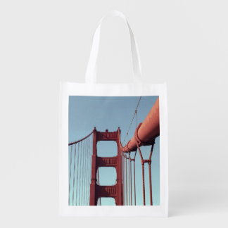 On The Golden Gate Bridge Reusable Grocery Bag