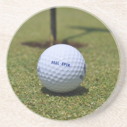 On the golf course beverage coaster zazzle for Drink coaster ideas
