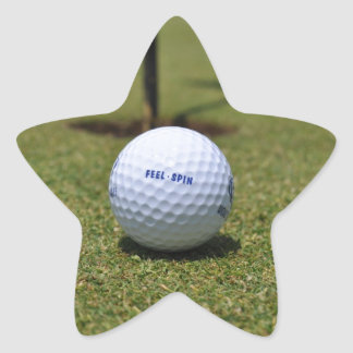 On the Golf Course Star Sticker