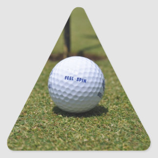 On the Golf Course Triangle Sticker
