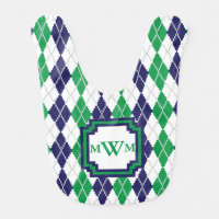 On the Green Argyle Bib