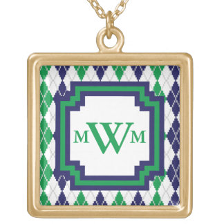 On the Green Argyle Necklace