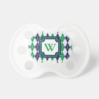 On the Green Argyle Pacifier