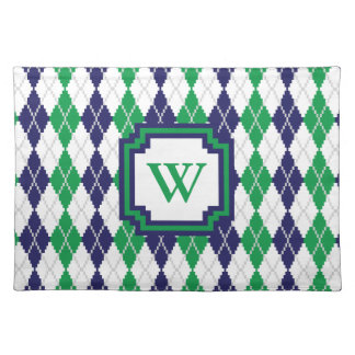 On the Green Argyle Placemat