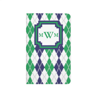 On the Green Argyle Pocket Journal